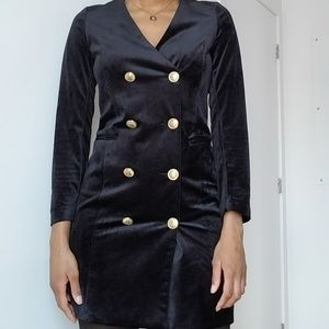 Vers Mode Velvet Dress/Blazer